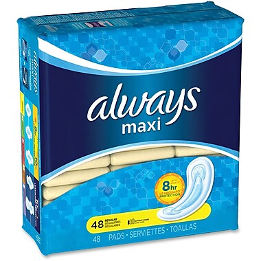 Procter & Gamble Always Maxi Pads, 48/Pack