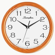 "Swingline 12"" Woodgrain Round wall Clock"
