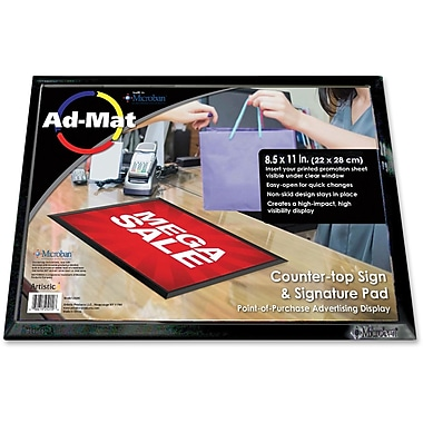 Artistic Ad-Mat Sign/Signature Pad, 8-1/2
