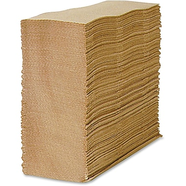 Unisource 1-Ply Multi-Fold Paper Towel, Brown, 12/Carton