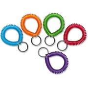 MMF Industries Wrist Coil Key Rings, 10/Box
