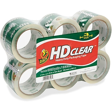 Duck Brand Heavy-Duty Clear Packaging Tape, 3