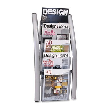 Alba 5-Pocket Wall Literature Rack