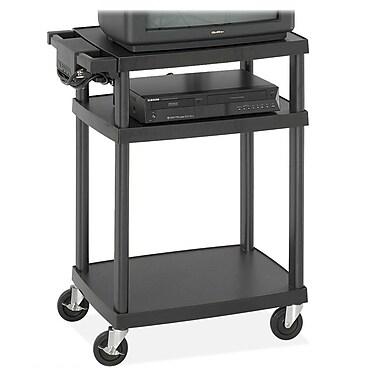 Safco® Adjustable AV Cart, Plastic, Black