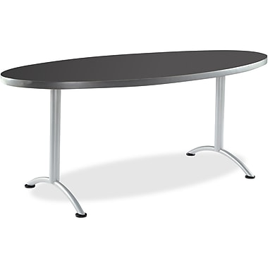 Iceberg Graphite ARC Fixed Height Oval Table, 36