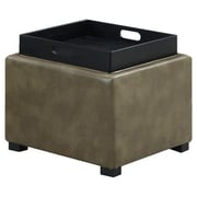 Emerald Home Furnishings Cube Storage Ottoman II; Olive
