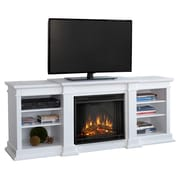 Real Flame Fresno TV Stand with Electric Fireplace; White
