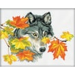 """RTO M111 Multicolor 9.5"""" x 12.25"""" Wolf Counted Cross Stitch Kit"""
