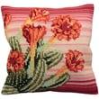 """Collection D'Art 5100 Multicolor 15.75"""" x 15.75"""" Pillow Cross Stitch Kit, Surprise Du Desert"""