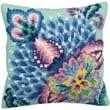 """Collection D'Art 5136 Multicolor 15.75"""" x 15.75"""" Pillow Cross Stitch Kit, Romance"""