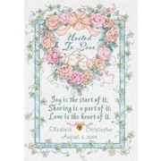 "Dimensions 35125 Multicolor 14"" x 10"" United In Love Wedding Record Counted Cross Stitch Kit"