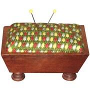 "Sudberry House 15791 Multicolor 5"" x 3.5"" Mahogany Vintage Pincushion"