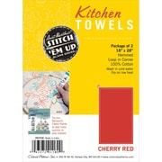 Aunt Martha's PKTTCR Red Towel, 2/Pack