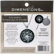 "Dimensions 72-74073 Multicolor 1.25"" Dandelion Pattern Metal Bezel Jewelry Embroidery Kit"