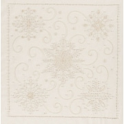 """Janlynn 21-1362 Beige 14"""" x 14"""" Snowflakes Candlewicking Embroidery Kit"""