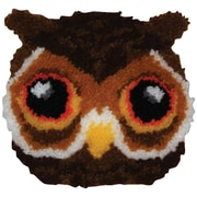 "Huggables 36209 Brown 12"" x 12"" Owl Shaped Pillow Latch Hook Kit"