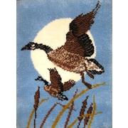 """M C G Textiles 37769 Multicolor 32"""" x 24"""" Moon Geese Latch Hook Kit"""