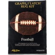 "M C G Textiles 37794 Brown 22"" x 33.5"" Football Shaped Latch Hook Kit"