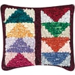"""M C G Textiles 38536 Multicolor 12.5"""" x 14"""" Quilt Mates Locker Hook Pillow Kit, Flying Geese"""