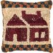 """M C G Textiles 38537 Multicolor 12.5"""" x 14"""" Quilt Mates Locker Hook Pillow Kit, School House"""