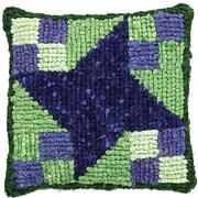 "M C G Textiles 38539 Multicolor 12.5"" x 14"" Quilt Mates Locker Hook Pillow Kit, Milky Way"