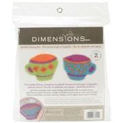 Dimensions 72-73911 Multicolor Feltworks Learn Needle Felting Kit, Tea Cups