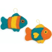 Dimensions 72-73914 Multicolor Feltworks Learn Needle Felting Kit, Fish