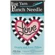 """M C G Textiles 73510 Multicolor 16"""" x 15"""" Love Heart Pillow Punch Needle Kit"""