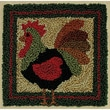 """Rachel's Of Greenfield PNK5306 Multicolor 3.38"""" x 3.38"""" Rooster Punch Needle Kit"""