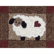 """Rachel's Of Greenfield PNK9405 Multicolor 3.75"""" x 4"""" Sheep Punch Needle Kit"""