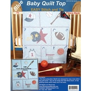 "Fairway 42110 Blue 42"" x 36"" Sports Stamped Baby Quilt Top"