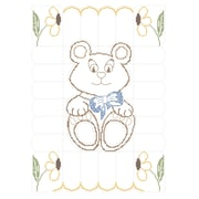 "Fairway 92617 Multicolor 50"" x 36"" Stamped Baby Quilt Top, Teddy Bear"