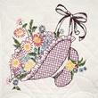 """Fairway 98206 18"""" x 18"""" Flower Bonnet Stamped Quilt Blocks, 6/Pack"""