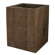 LaMont Wyatt Wastebasket; Chocolate