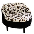 ORE Leopard Heart Slipper Chair with Two Pillows