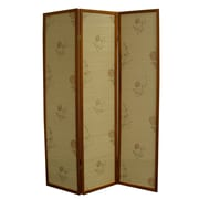 ORE Furniture 70.25'' x 52'' Floral Bamboo 3 Panel Room Divider