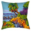 Thumbprintz Cloud Nine Marsh Printed Polyester Throw Pillow; 14'' H x 14'' W x 3'' D