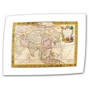 ArtWall Antique Maps 'Map of Asia' by Guillaume Danet Graphic Art Canvas; 36'' H x 52'' W