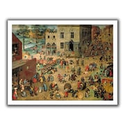ArtWall 'Childrens Games' by Pieter Bruegel Painting Print on Canvas; 28'' H x 36'' W
