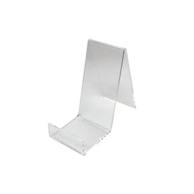 Futech – Présentoir de type chevalet en acrylique CTS0128, 4 po x 2 po x 4 po, transparent, paq./10