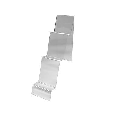 Futech – Support d'affichage en acrylique CTS0139, 9 po x 3 po x 10 po, transparent, paq./10