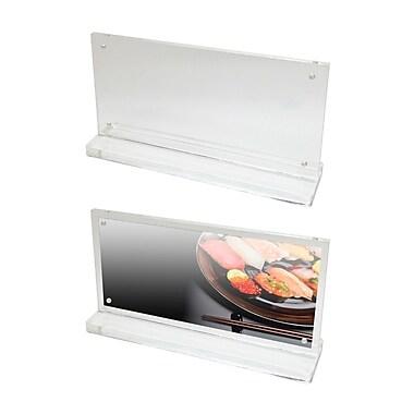 Futech - Porte-enseignes magnétique de comptoir en acrylique CTS0193, 4 ½ po x 8 ¼ po x 2 po, transparent, paq./10