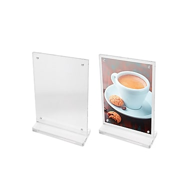 Futech CTS0196 Countertop Magnetic Acrylic Sign Holder, 6-1/2