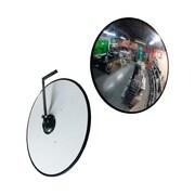 """Futech CV16 Security Convex Mirror, 16"""" x 16"""" x 3"""", Black Trim"""