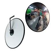 """Futech CV24 Security Convex Mirror, 24"""" x 24"""" x 3"""", Black Trim"""