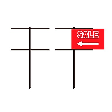 Futech DIR002 Metal Lawn Stake with Sign Holder, 45