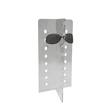 Futech - Présentoir pour lunettes en acrylique EDG-006, 16 ¾ po x 7 ¾ po x 5 po, transparent