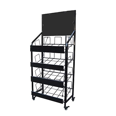 Futech NS006 Rolling Newspaper Rack, 60