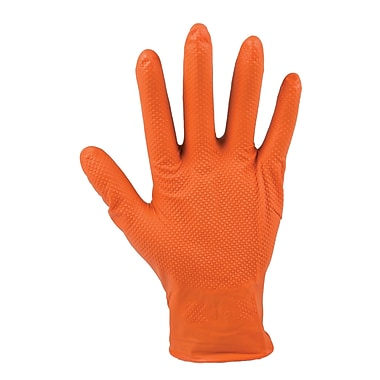 Work Tuff – Gants jetables en nitrile à texture diamantée, 7 mil, grand, paq./200