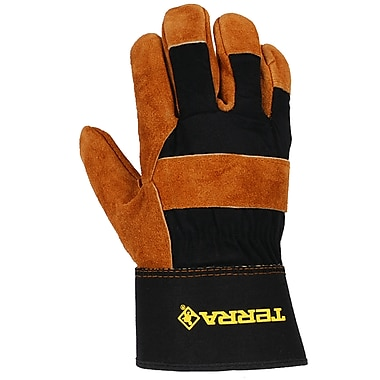 Terra Cowsplit Leather Work Glove, 12 Pairs/Pack